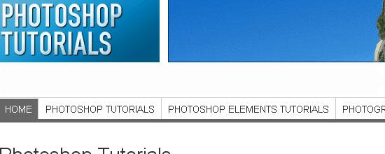 Photoshop Tutorials - screen shot.