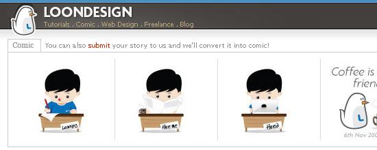 Loon Design: Tutorials - screen shot.