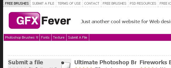 Gfxfever - screen shot.