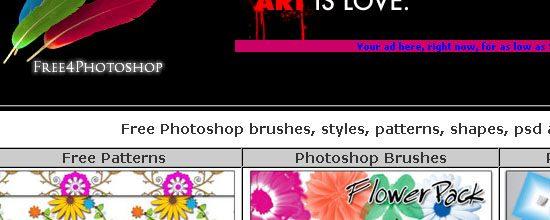 Free4photoshop - screen shot.