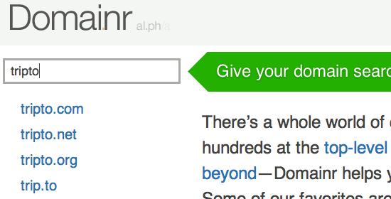 Domainr - screen shot.