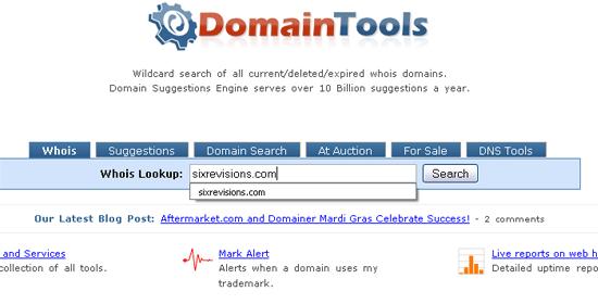 Domain Tools - screen shot.