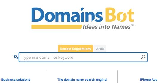 DomainsBot - screen shot.