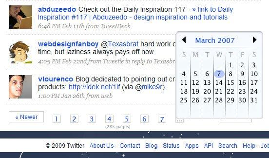 Calendar overlay.