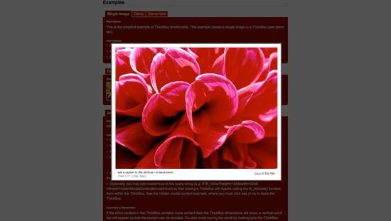 Thickbox - screen shot.