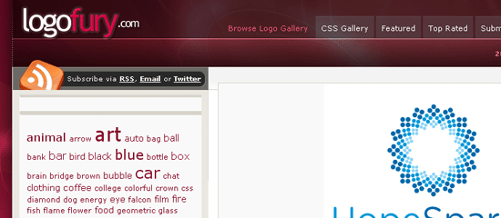 LogoFury.com - screen shot.
