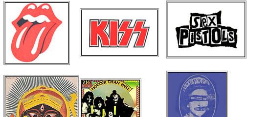 Top 10 Rock Band Logos - screen shot.