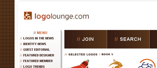 LogoLounge.Com - screen shot.