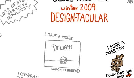 Jesse Willmon's Winter 2009 Design - screen shot./
