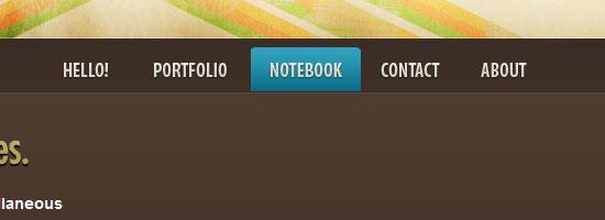 Thuiven navigation menu screen shot.