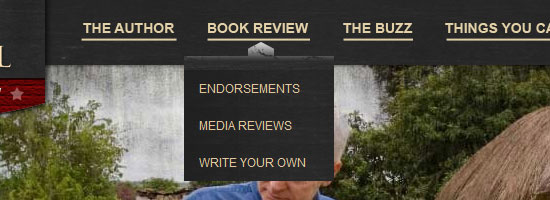 The Hole In Our Gospel navigation menu screen shot.