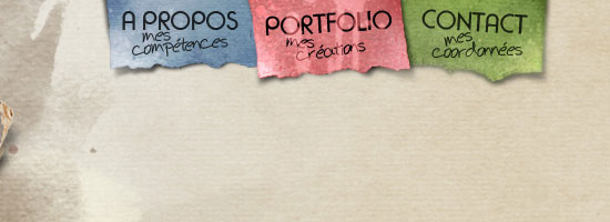 Portfolio de Guillaume Pacheco navigation menu screen shot.