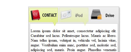 Create a Slide Tabbed Box using jQuery screen shot.