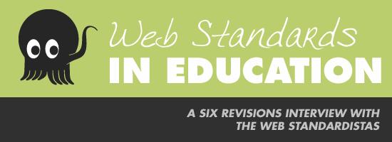 Web Standardistas on Web Standards in Education leading image.