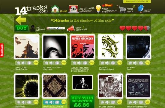 14 tracks screen shot.