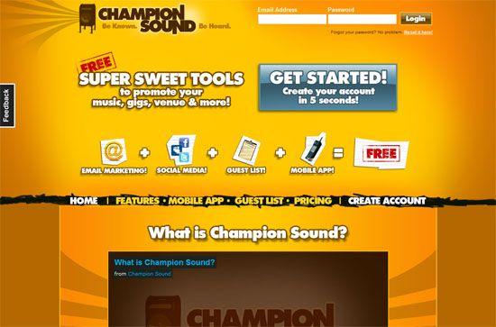 Champion Sound screen shot.