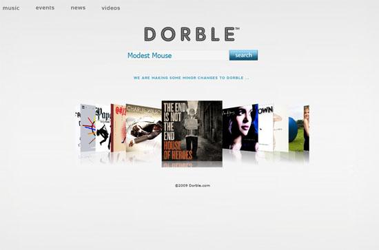 Dorble.com screen shot.
