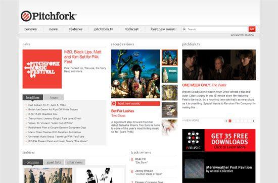 Pitchfork screen shot.