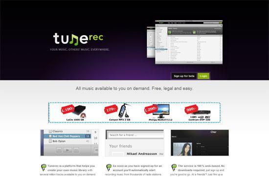 Tunerec screen shotl