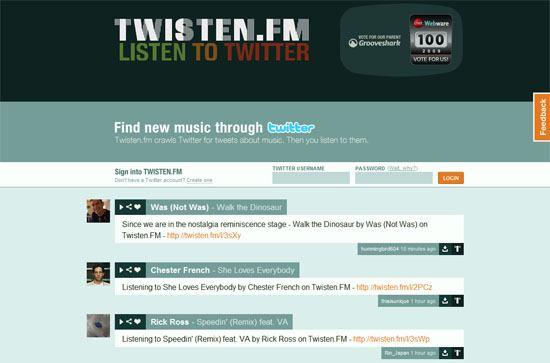 Twisten.FM screen shot.