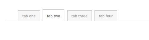 XHTML CSS Tabbed Menu