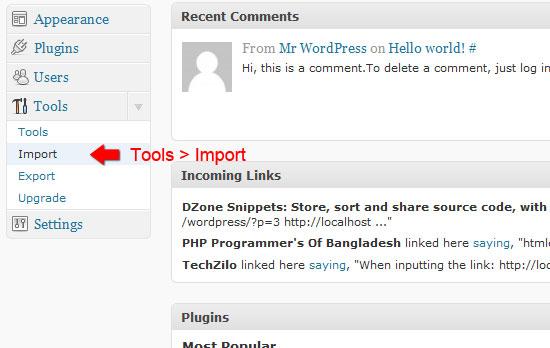 Tools import.