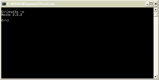 Installing Rails - checking version number.