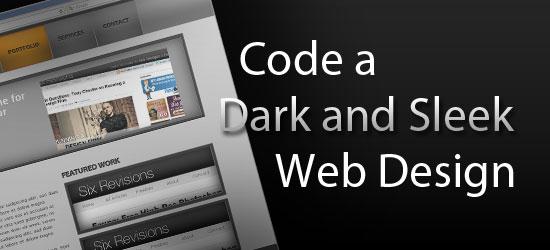 How to Code a Dark and Sleek Web Design