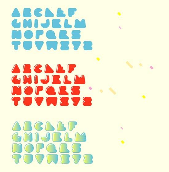 Plasti Puzzle Font