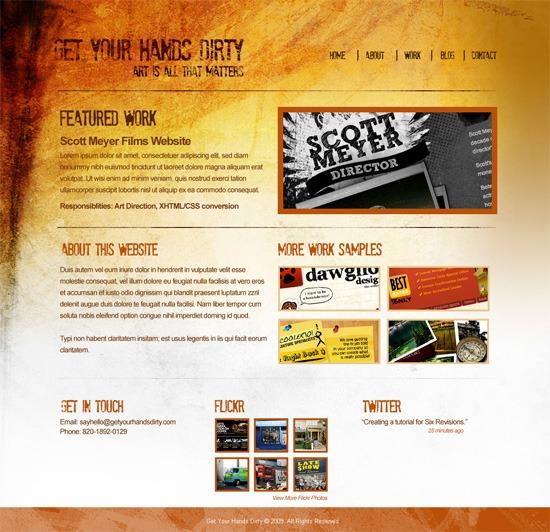 Final Result of Grunge Web Design in Photoshop