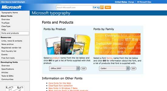 Microsoft Typography