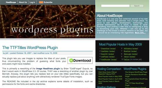 TTFTitles WordPress Plugin
