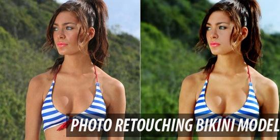 Professional Photo Retouching Bikini Model