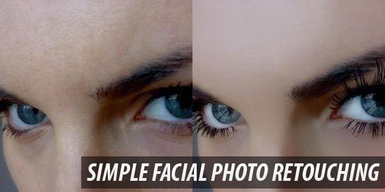 Simple Facial Photo Retouching