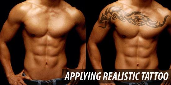 Applying Realistic Tattoo