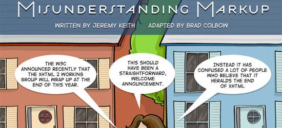 Misunderstanding Markup: XHTML 2/HTML 5 Comic Strip