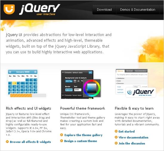 UsingjQuery UI for easy widget implementation