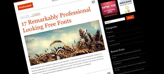 Perforated: A Minimal WordPress Theme
