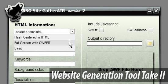 Website Generation Tool Take II