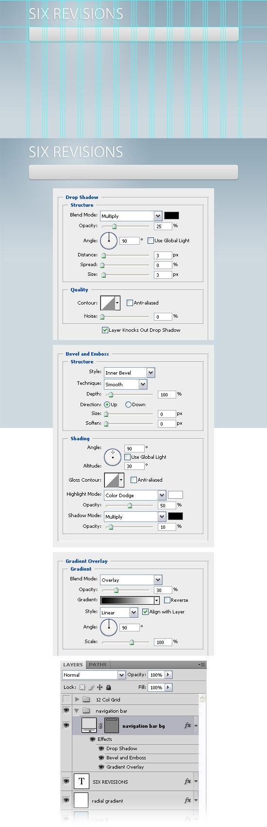 Creating the navigation bar