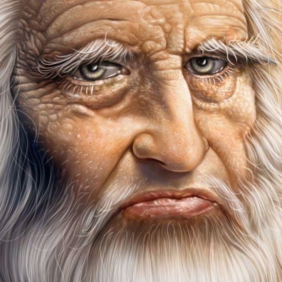 Leonardo detail by Mahir Ates