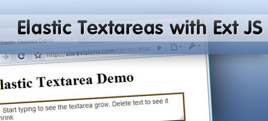 Build an Elastic Textarea with Ext JS