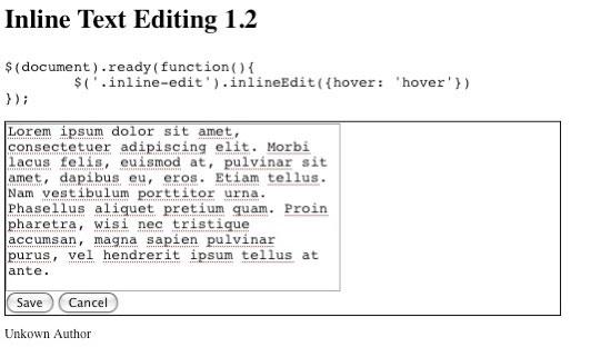 Inline Text Edit