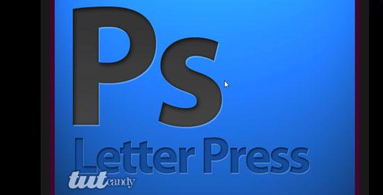 Letterpress Emboss Text Effect