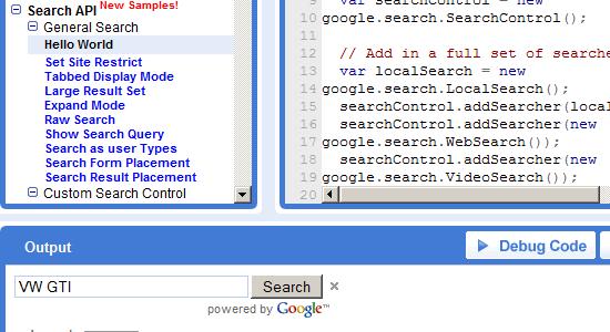 Google AJAX Search API