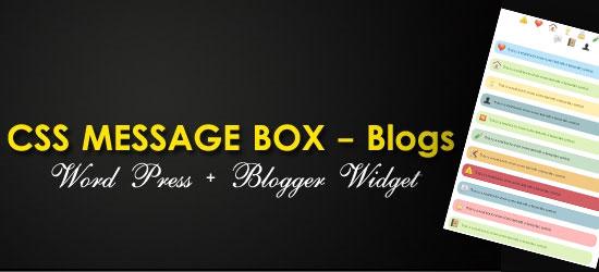 Elegant CSS Message Boxes for Blogs