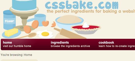 CSSbake: User Interface Design Gallery