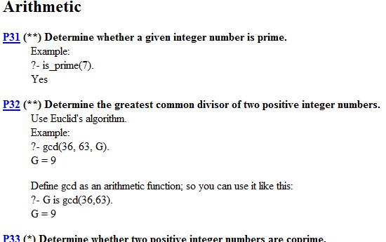 99 Prolog Problems