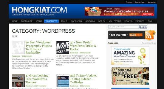 Hongkiat WordPress Category