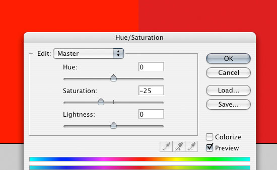 Hue/Saturation Image Adjustment